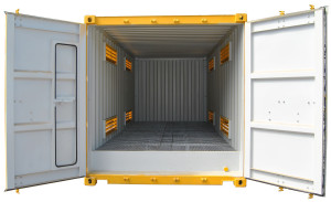 20ft-dangerous good storage container interior