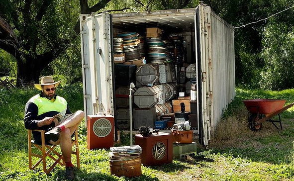 Historic Films stored in a shipping container - Used Shipping Container For Sale