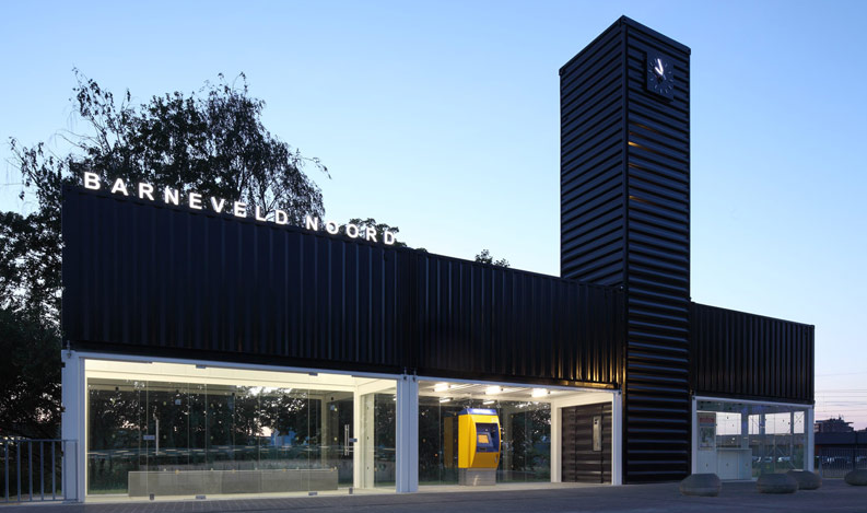 Shipping Container Buildings - Bus Station and retail shop 3